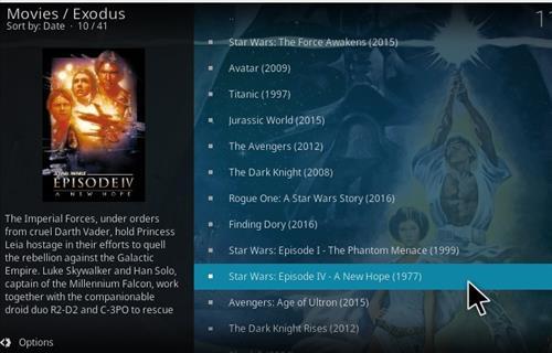 Exodus and Kodi 17 Krypton Overview pic 1