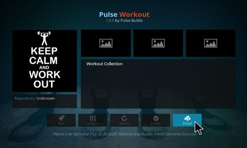 How to Install Pulse Workout Add-on Kodi 17 Krypton step 18