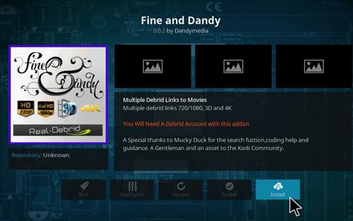 How to Install Fine and Dandy Add-on Kodi 17 Krypton step 16