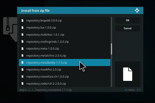 How to Install MetalKettles Addon Repository Kodi 17 Krypton step 14
