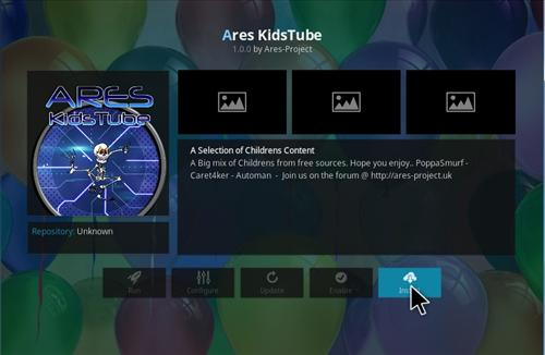 How to Install Ares Kids Tube Add-on Kodi 17 Krypton step 19
