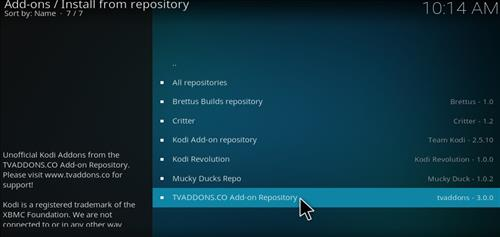 How to Install TVAddons.CO Add-on Repository Kodi 17 Krypton step 17