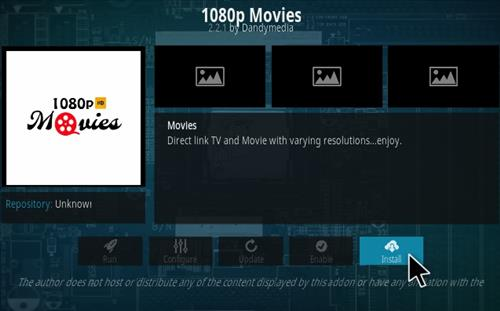 How to Install 1080p Movies Kodi Add-on Install
