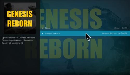 How to Install Genesis Reborn Add-on Kodi 17.1 Krypton step 17