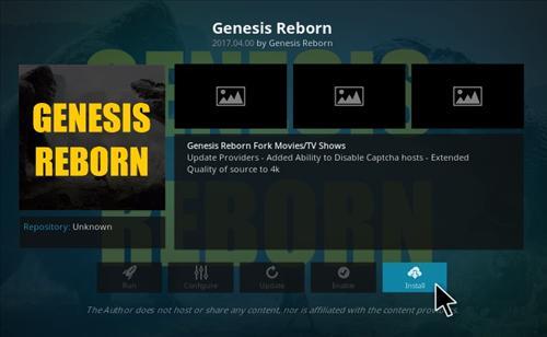 How to Install Genesis Reborn Add-on Kodi 17.1 Krypton step 18
