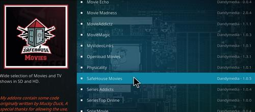 How to Install Safe House Movies Add-on Kodi 17.1 Krypton step