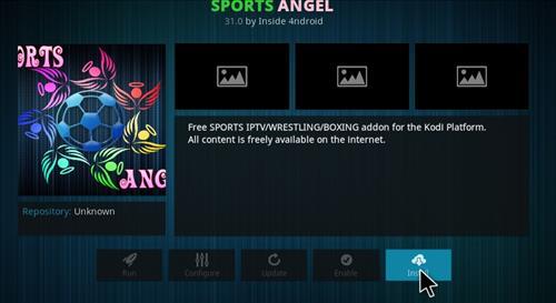 How to Install Sports Angel Add-on Kodi 17.1 Krypton step 18