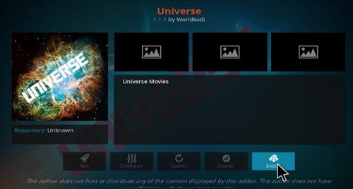 How to Install Universe Kodi Add-on with Screenshots step 18