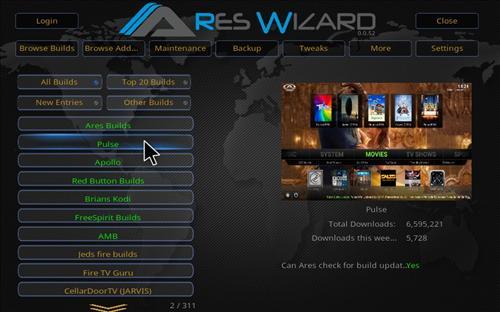 Overview Ares Wizard Kodi 17.1 Krypton pic 1