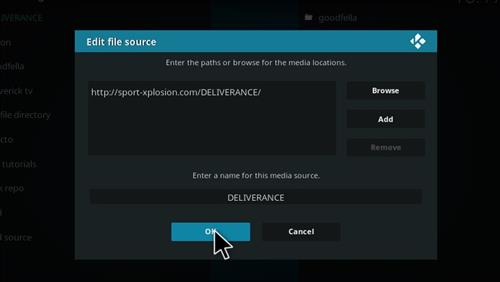 How to Install Deliverance Sports Add-on Kodi 17.1 Krypton step 7