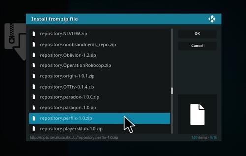 How to Install Perflix TV Repository Kodi 17.1 Krypton step 13