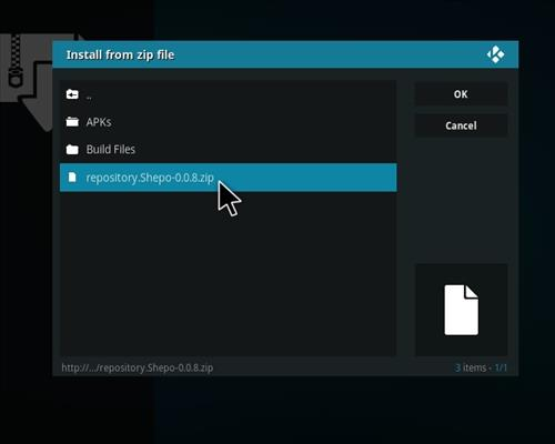 How to Install Shepo Build Kodi step 12