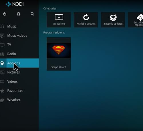 How to Install Shepo Build Kodi step 8