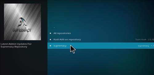 How to Install Supremacy Add-on Kodi 17.1 Krypton step 16