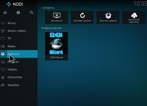 How to Install Eden Ultimate Build Kodi 17 Krypton step 8