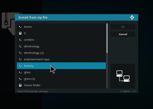 How to Install Fido Video Kodi Add-on with Screenshots step 11