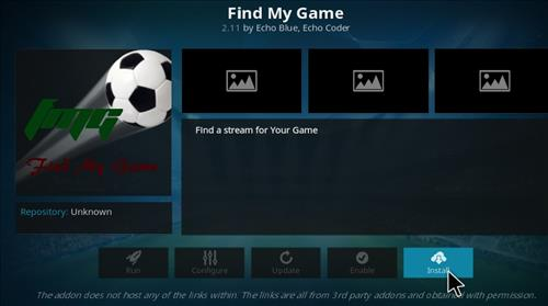 How to Install Find My Game Add-on Kodi 17 Krypton step 20
