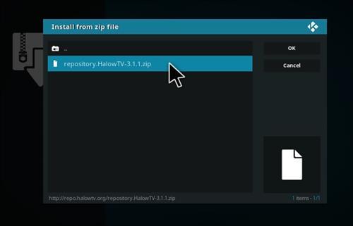 How to Install Halow Live TV Add-on Kodi 17.1 Krypton step 12