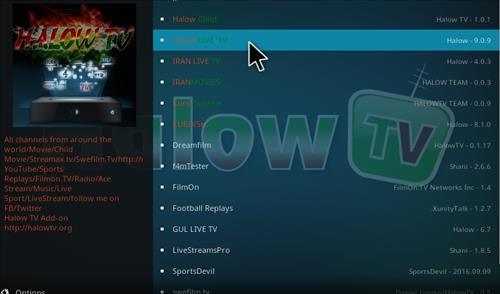 How to Install Halow Live TV Add-on Kodi 17.1 Krypton step 17