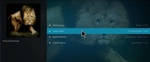 How to Install Lions Den Add-on Kodi 17.1 Krypton step 18