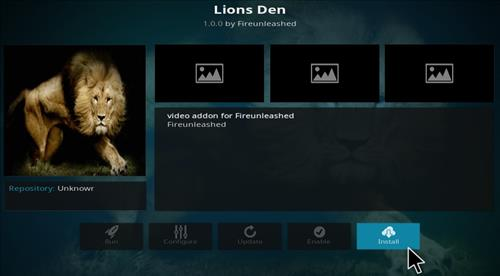 How to Install Lions Den Add-on Kodi 17.1 Krypton step 19
