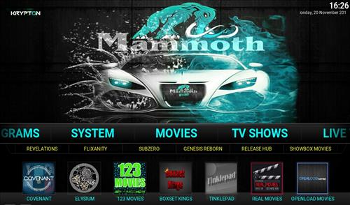 How to Install Mammoth Build Kodi 17 .6 Krypton pic 1