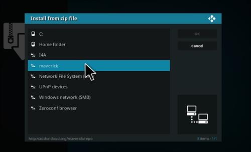 How to Install Maverick TV Add-on Kodi 17 Krypton step 11