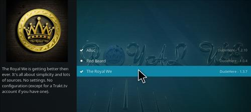 How to Install Royal We Add-on Kodi 17.1 Krypton step 19