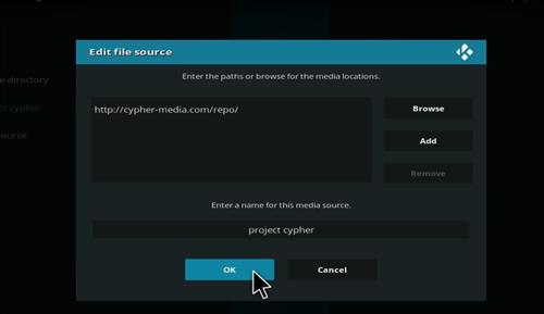 Project Cypher Add-on Kodi 17 Krypton How to Install Guide step 7