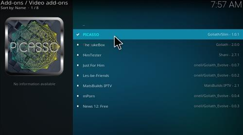Guide To Install Picasso Add-on Kodi 17 Krypton step 17