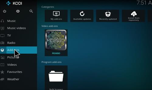 Guide To Install Picasso Add-on Kodi 17 Krypton step 8