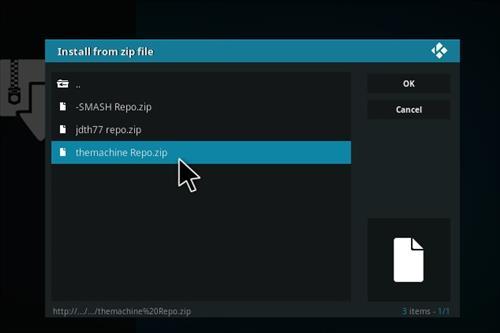 Guide To Install The Machine Add-on Kodi 17 Krypton step 12