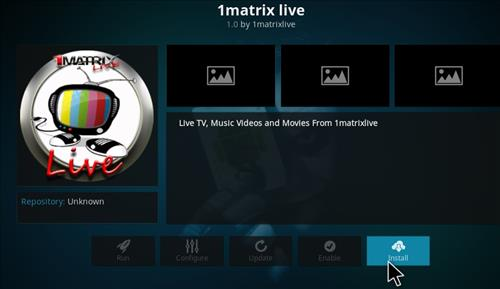 How to Install 1Matrix Live IPTV Add-on Kodi 17 Krypton step 24