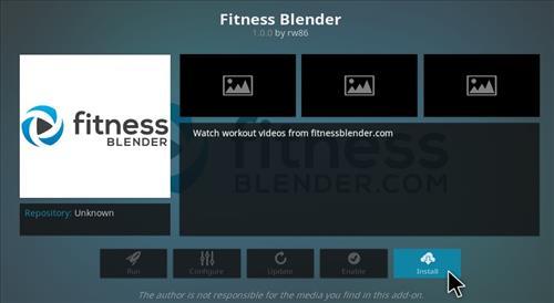 How to Install Fitness Blender Add-on Kodi 17 krypton step 20