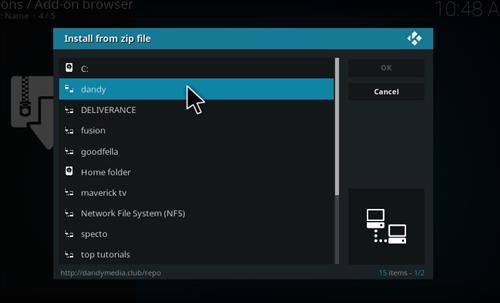 How to Install HEVC VideoClub Add-on Kodi 17 Krypton step 11