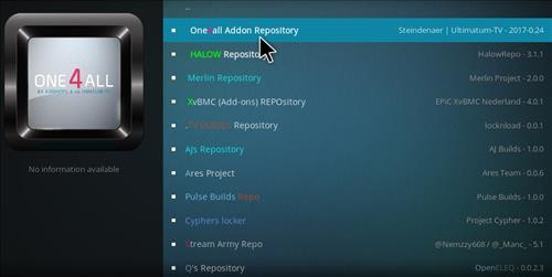 How to Install One4all Add-on Repository Kodi 17 Krypton step 18