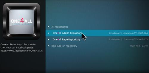 How to Install One4all Add-on Repository Kodi 17 Krypton step 21