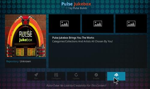 how to install pulse build on kodi kyocera
