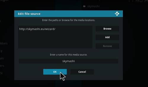 How to Install SkyMashi TV Wizard Kodi 17 Krypton step 7