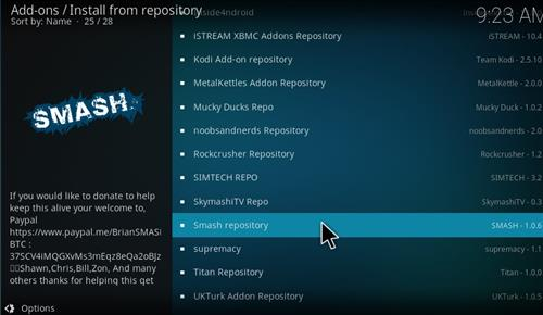 How to Install Smash Repository Kodi 17 Krypton step 15