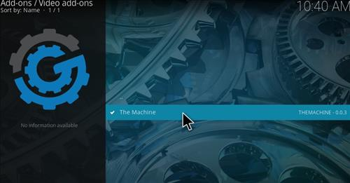 How to Install The Machine Add-on Kodi 17 Krypton step 22
