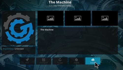 How to Install The Machine Add-on Kodi 17 Krypton step 23