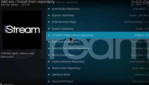 How to Install iStream Add-on Kodi 17 Krypton step 20