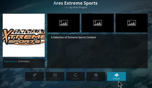 Ares Extreme Sports Add-on Kodi 17 Krypton How to Install Guide step 19