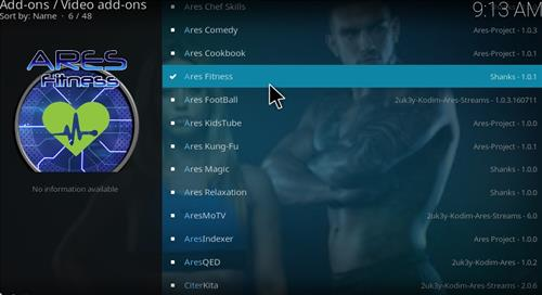 Ares Fitness Add-on Kodi 17 Krypton How to Install Guide step 18