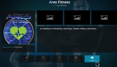 Ares Fitness Add-on Kodi 17 Krypton How to Install Guide step 19