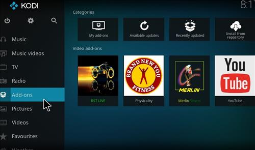 BST Live Add-on Kodi 17 Krypton How to Install Guide step 8