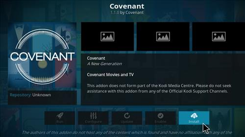 how to add on covenant on kodi on pc
