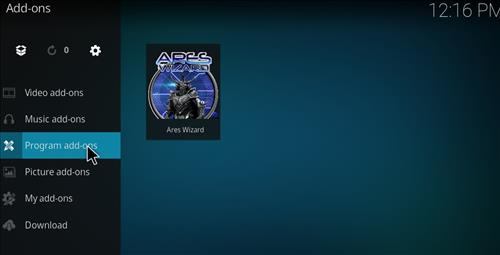 Covenant Add-on Kodi 17.3 Installing and Guide through Ares Wizard step 22