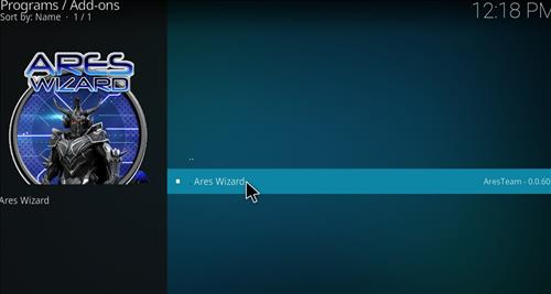 Covenant Add-on Kodi 17.3 Installing and Guide through Ares Wizard step 23